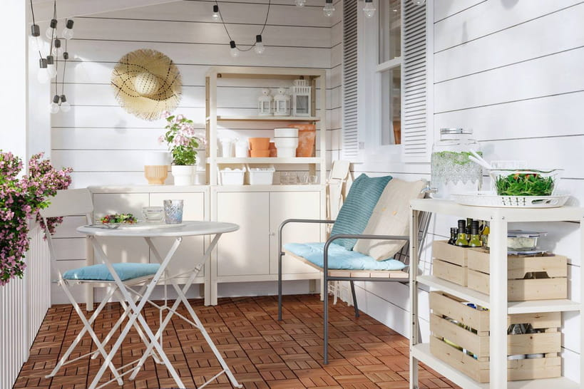 Desnouveautés canon pour meubler et décorer un petit balcon
