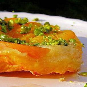 tarte tatin pêche-abricot