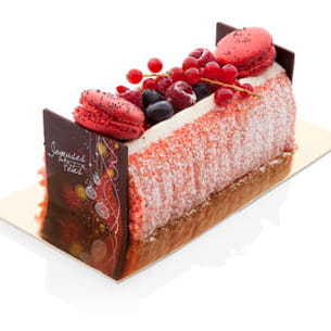 bûche aux fruits rouges de dominique saibron