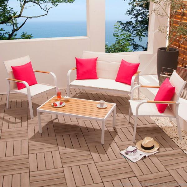 salon de jardin blanc de. Black Bedroom Furniture Sets. Home Design Ideas