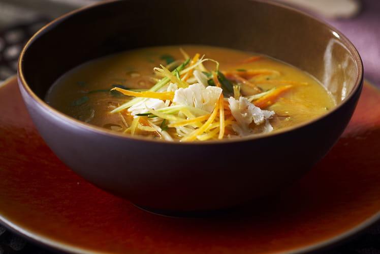 Soupe aux légumes croquants