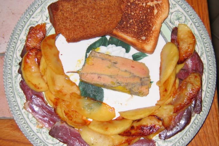 Foie gras mi-cuit au Sainte Croix de Mont