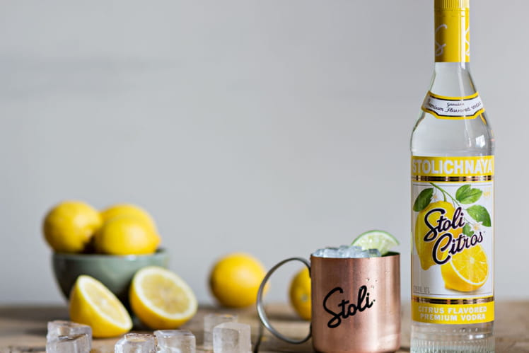 Cocktail Vodka Stoli Citrus Secret Mule