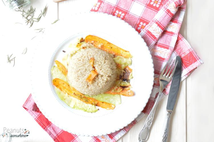 Tagliatelles de légumes et quinoa gourmand