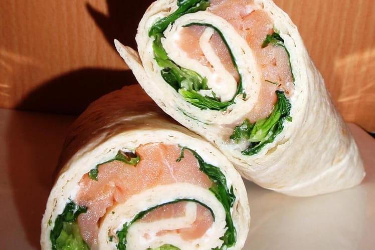 Wraps chèvre & saumon