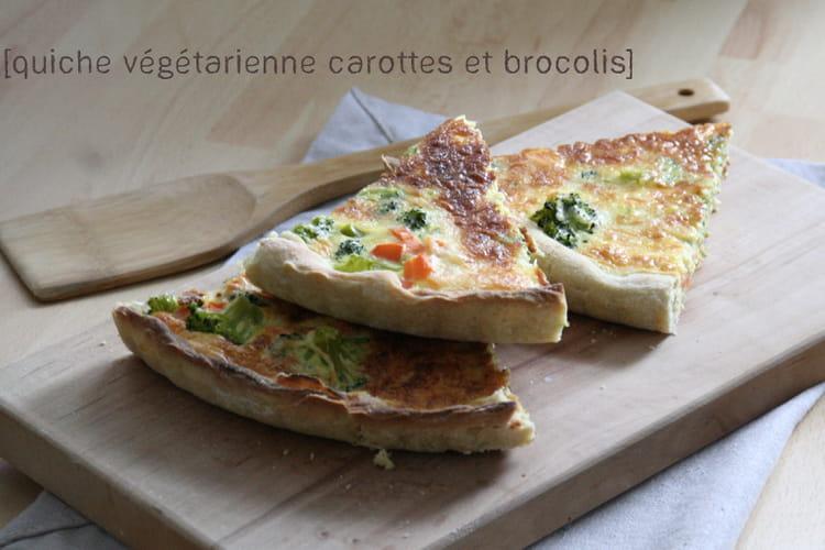 Quiche végétarienne carottes brocolis