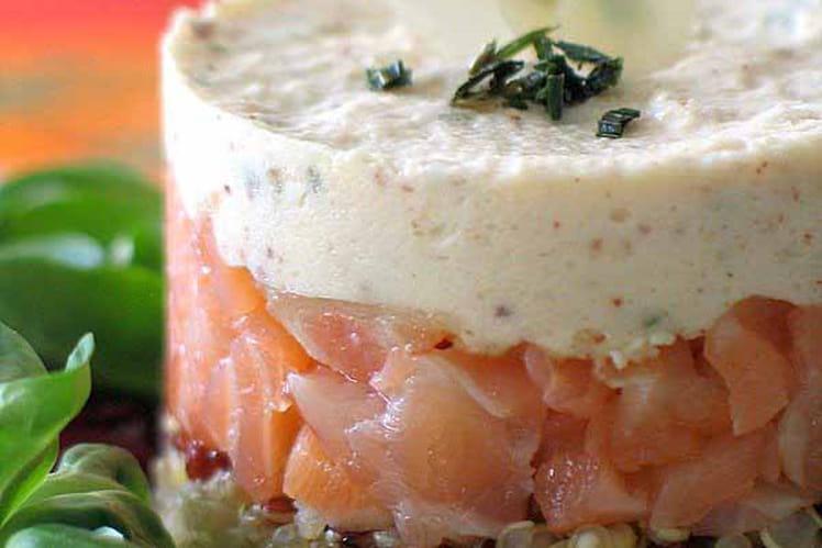 recette de quinoa au saumon fum et mousse d 39 amande la. Black Bedroom Furniture Sets. Home Design Ideas