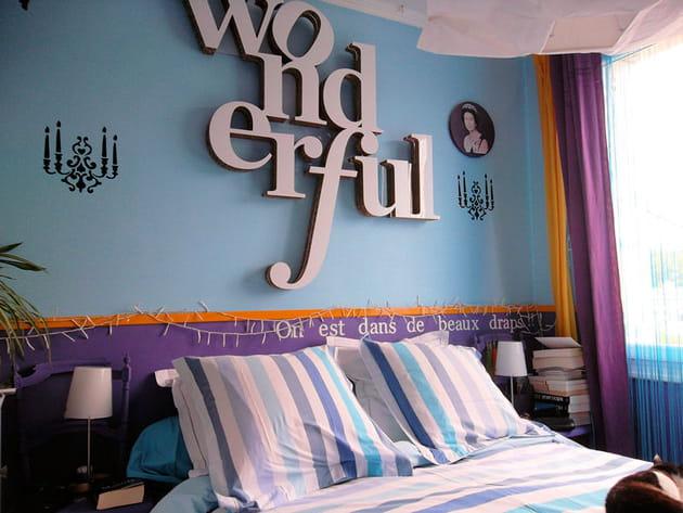 Chambre déco colorée