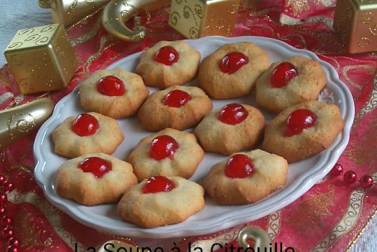 Biscuits aux bigarreaux confits