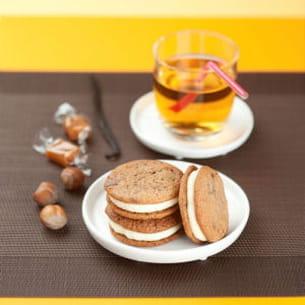 cookies caramel noisette et vanille