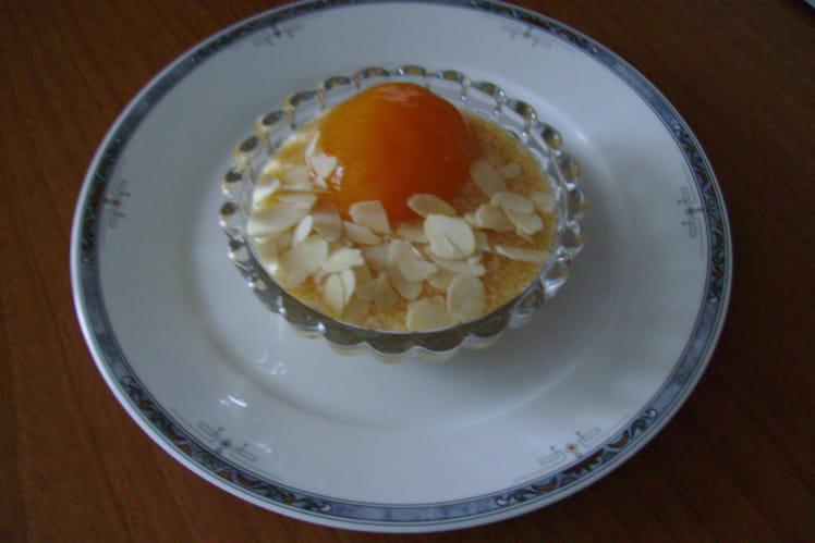 Crème d'abricots aux amandes