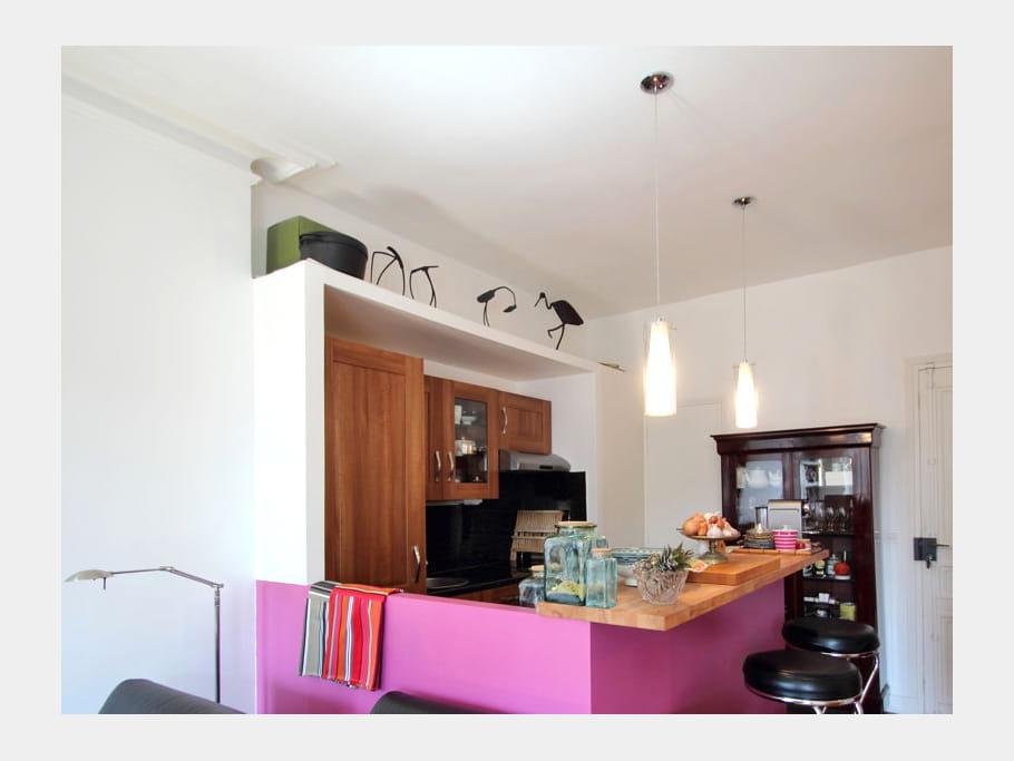 Apr s une cuisine color e une chambre au milieu du for Cuisine au milieu de la piece