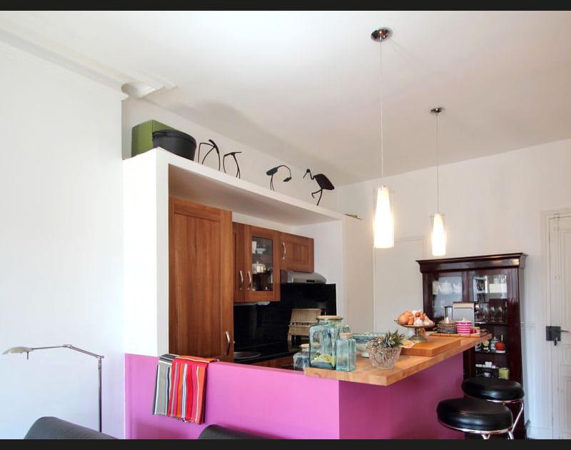 Après: une cuisine colorée
