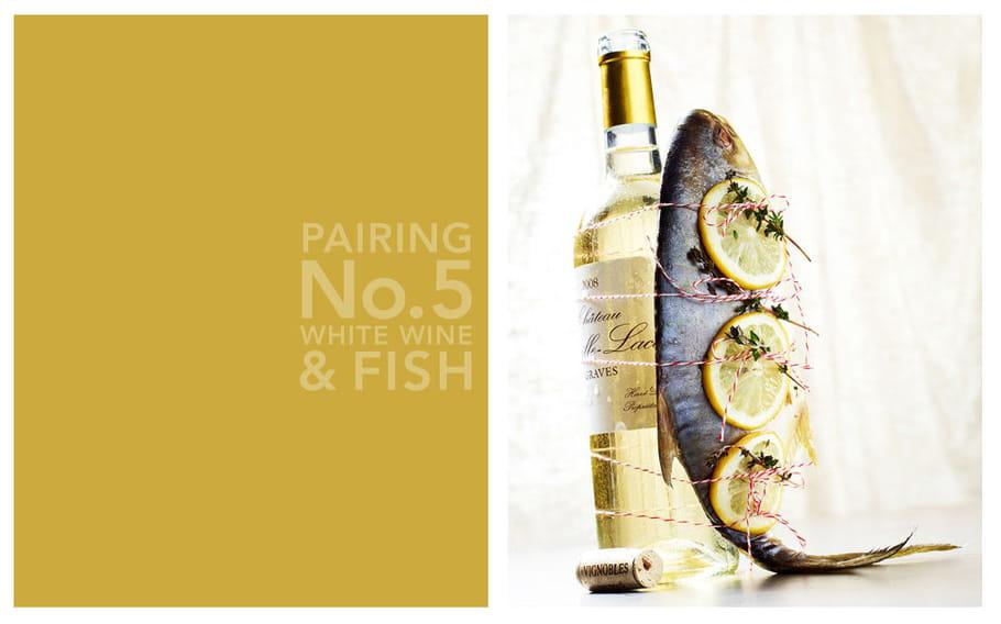 Vin blanc et poisson