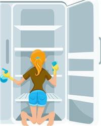 nettoyez régulièrement votre frigo à fond, histoire de ne pas y laisser