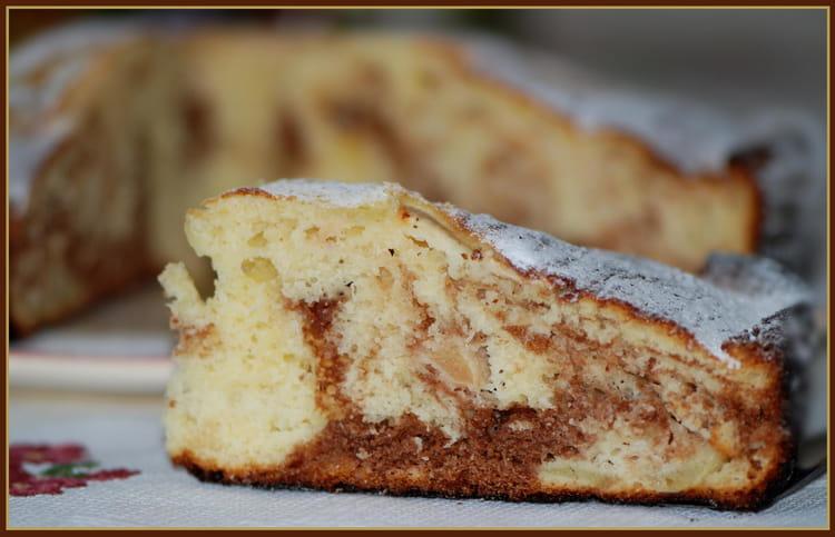 Recette De Gateau Au Yaourt Marbre Pommes Chocolat La Recette Facile