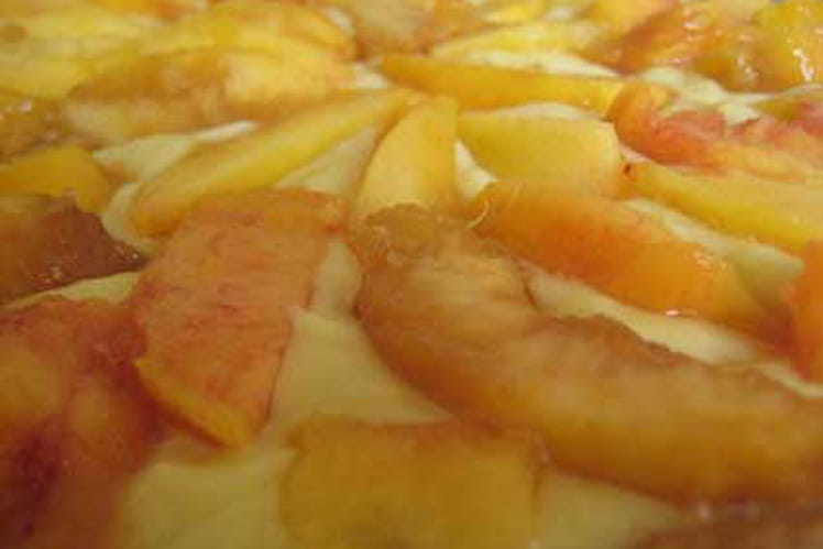 Tarte aux pêches et nectarines