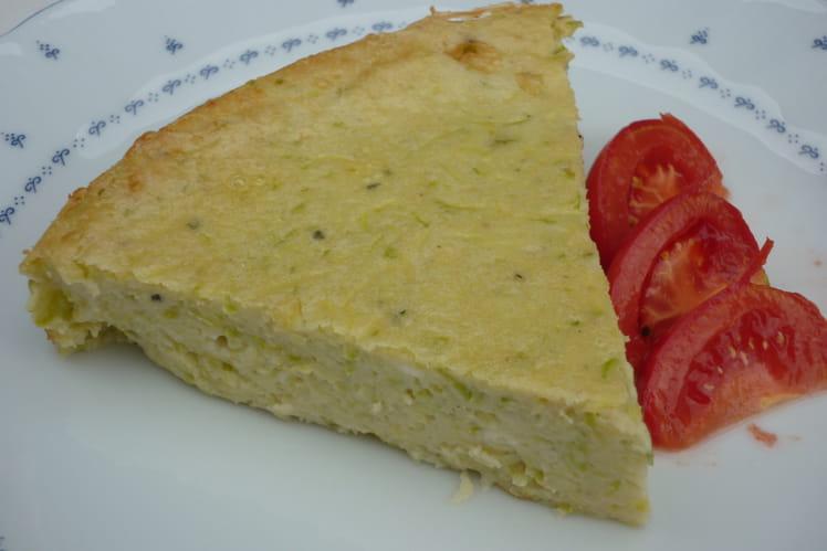 Clafoutis aux courgettes et deux fromages