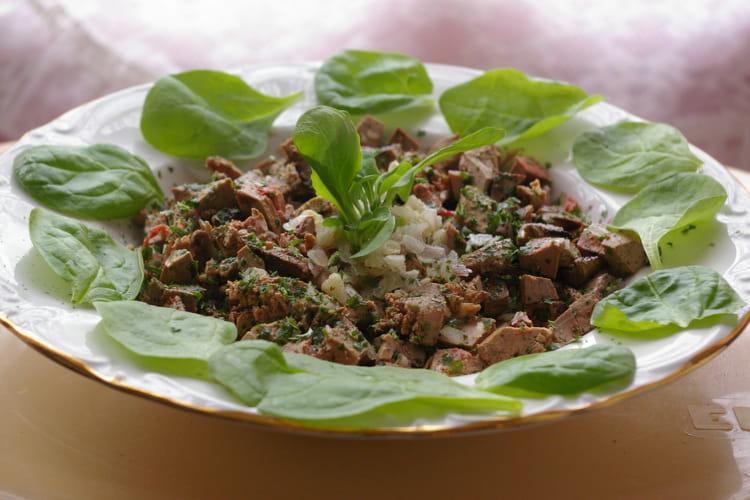 Salade de foies de lapin
