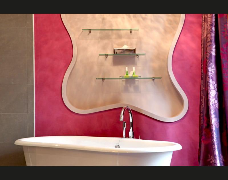 Un bain en rose