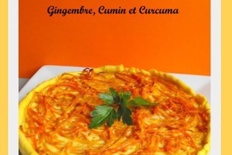 Tarte aux carottes gingembre, cumin et curcuma