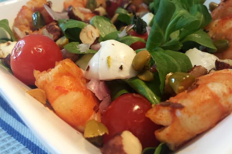 Salade de lentilles aux fruits secs