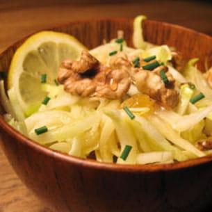 endives en salade au miel et aux noix