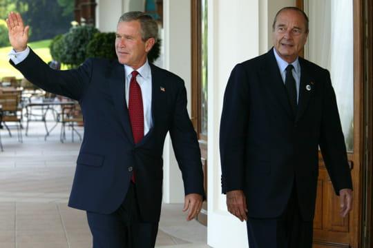 Jacques Chirac, contre l'Irak
