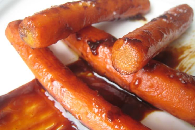 Carottes confites et caramel au pain d'épices