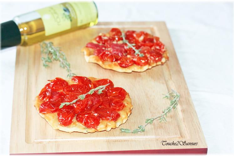 Tatin aux tomates cerise