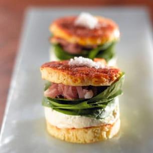 mini hamburgers au reblochon de savoie