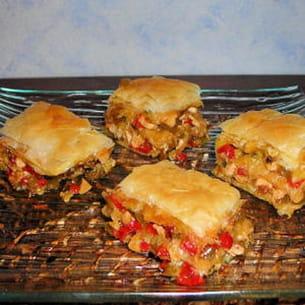 baklavas de poulet aux petits légumes