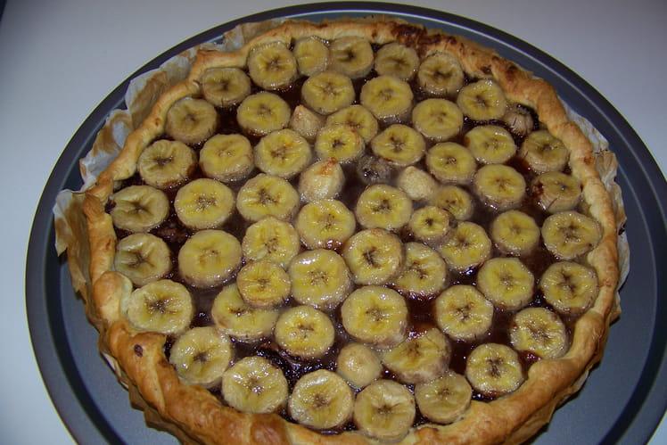 Tarte Nutella/banane simple et rapide