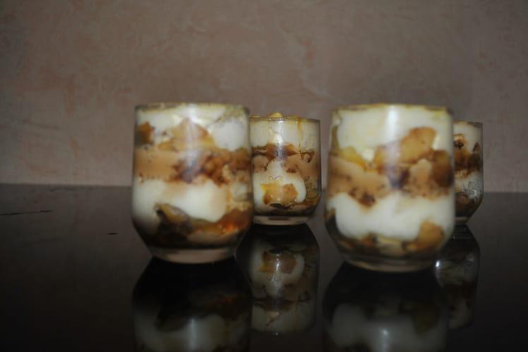 Tiramisu pommes caramel beurre salé