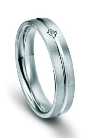 alliance platine et un diamant princesse pfertzel
