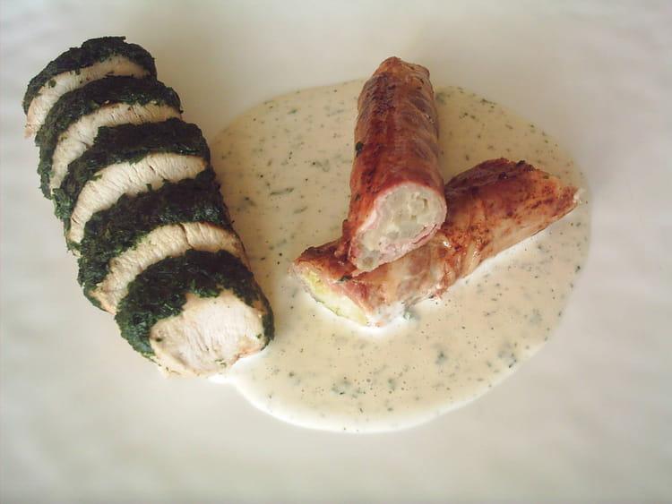 Recette de blanc de dinde au persil cr pinette d 39 asperge - Cuisiner blanc de dinde ...