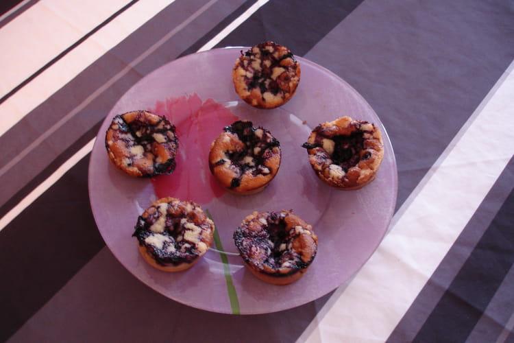 Muffins crousti-moelleux aux myrtilles