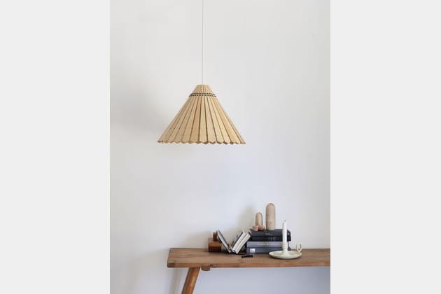 abat jour lames de bois. Black Bedroom Furniture Sets. Home Design Ideas