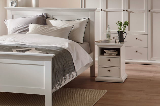 Table de chevet harlington par conforama for Conforama table de nuit