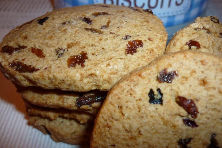 Cookies aux raisins secs et épices
