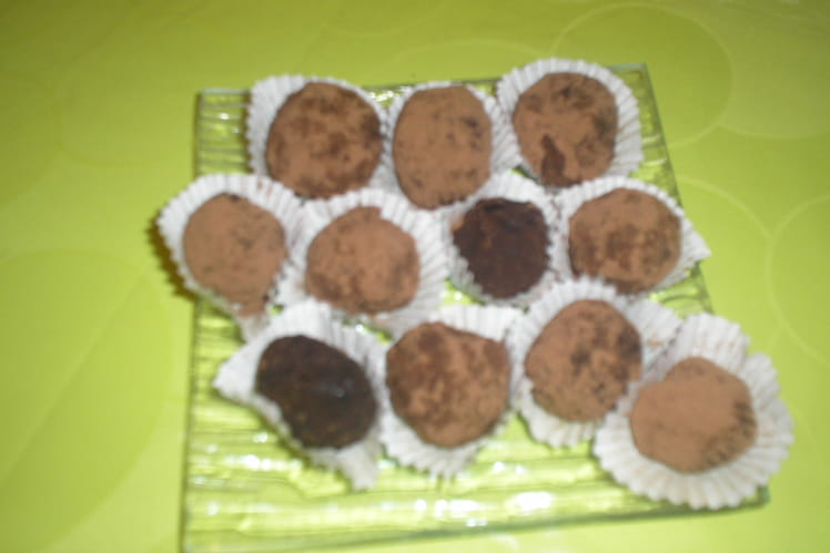 Truffes simples au chocolat