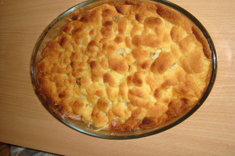 Crumble aux pommes et crème fraîche