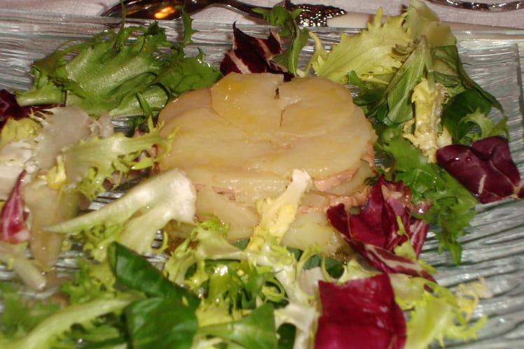 Petit gâteau de pommes de terre au foie gras