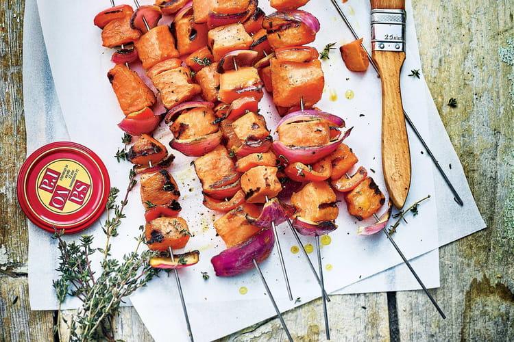 Brochettes de patates douces à la Savora® et au miel