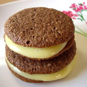 macarons aux deux chocolats