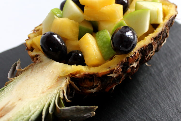 Salade de Fruits Ananas, Granny et Raisin