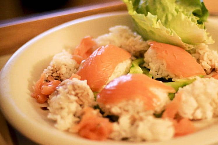 Quenelle riz-saumon