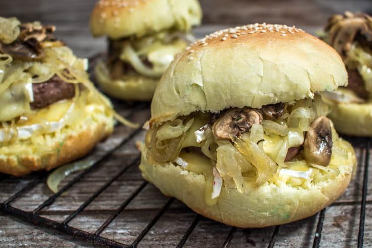 Burger au champignon & bun maison