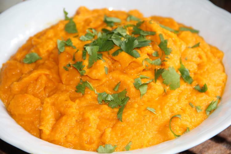 Purée de carottes, échalotes et cumin