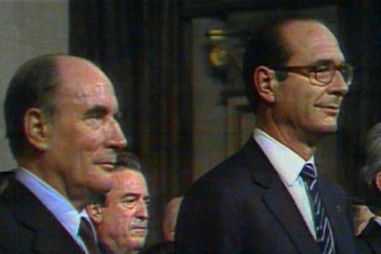 Jacques Chirac et François Mitterrand
